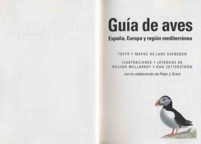 guia de aves de españa y europa